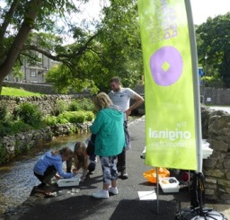 River dipping activity on offer on the day