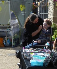 Face painting activity on offer on the day
